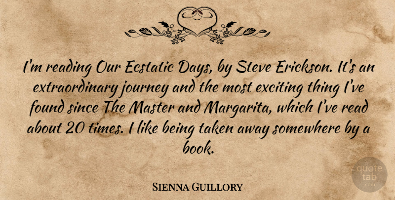 Sienna Guillory Im Reading Our Ecstatic Days By Steve Erickson