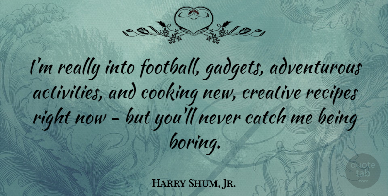 Harry Shum, Jr. Quote About Football, Creative, Cooking: Im Really Into Football Gadgets...