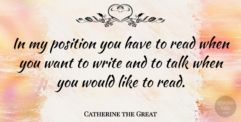 Catherine The Great In My Position You Have To Read When You Want