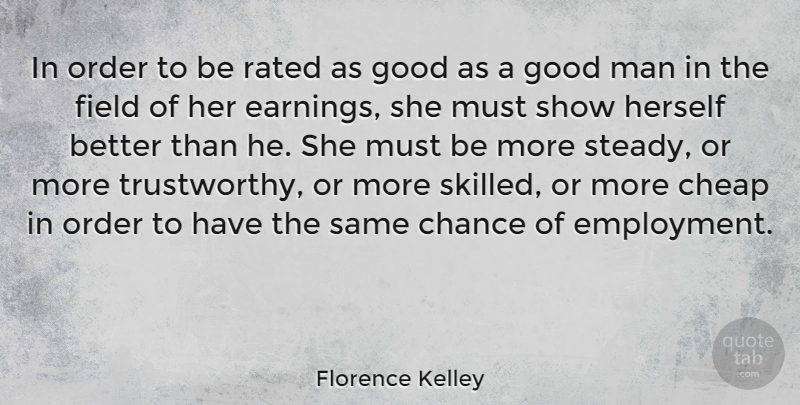 Florence Kelley In Order To Be Rated As Good As A Good Man In The