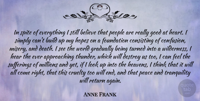 Anne Frank In Spite Of Everything I Still Believe That People Are