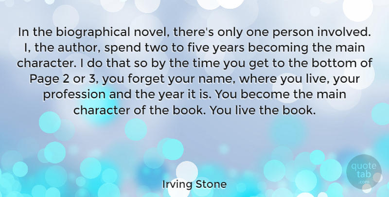 Irving Stone In The Biographical Novel Theres Only One Person