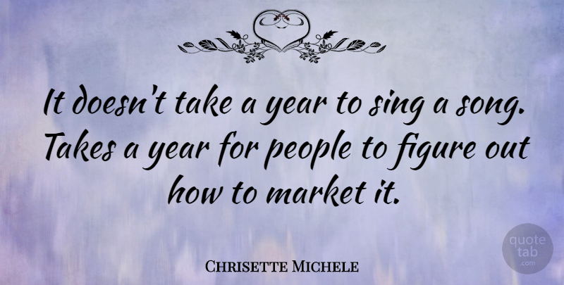 Chrisette Michele Quote About Song, Years, People: It Doesnt Take A Year...