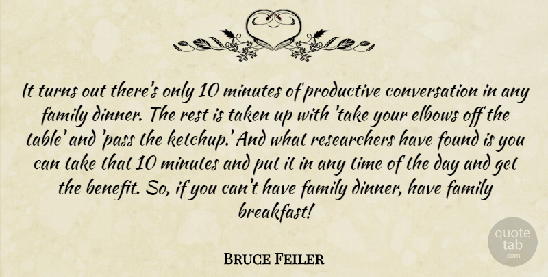bruce feiler it turns out there s only minutes of productive