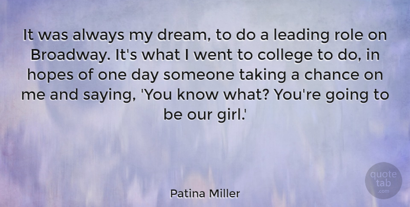 Patina Miller It Was Always My Dream To Do A Leading Role On