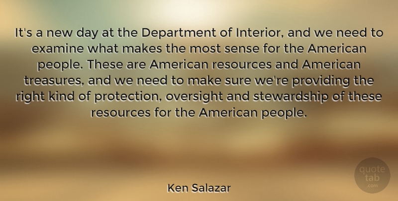 Ken Salazar Its A New Day At The Department Of Interior And We