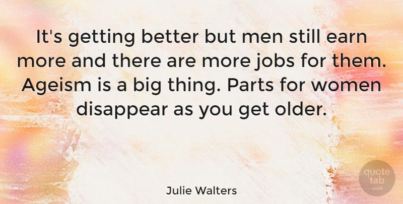 Julie Walters: It's getting better but men still earn more