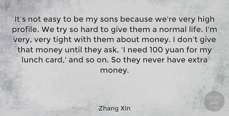 Zhang Xin Its Not Easy To Be My Sons Because Were Very High