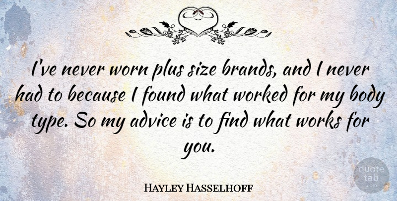Hayley Hasselhoff: I\'ve never worn plus size brands, and I ...