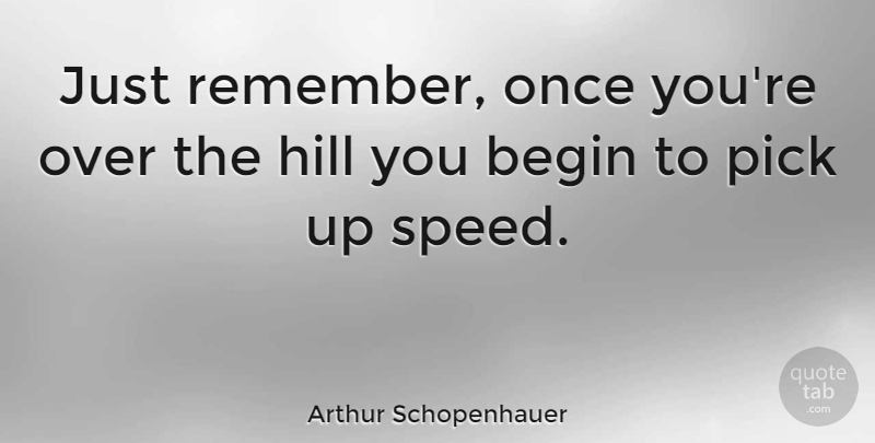 Arthur Schopenhauer Quote About Birthday, Congratulations, Getting Older: Just Remember Once Youre Over...