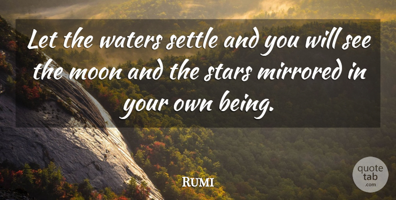 Rumi Let The Waters Settle And You Will See The Moon And The