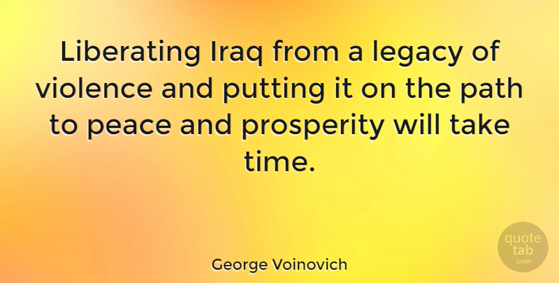 George Voinovich Liberating Iraq From A Legacy Of Violence And