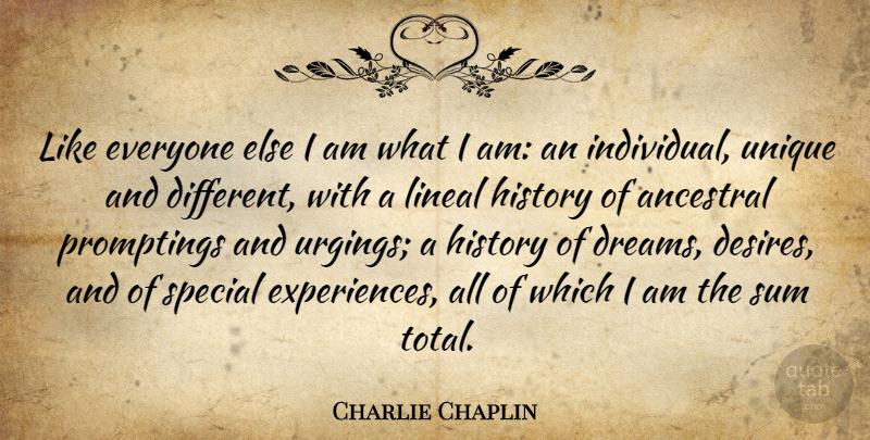 Charlie Chaplin Like Everyone Else I Am What I Am An Individual