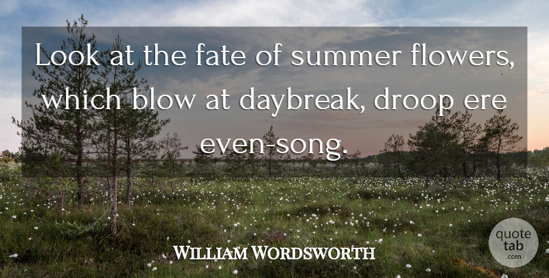 William Wordsworth: Look at the fate of summer flowers ...