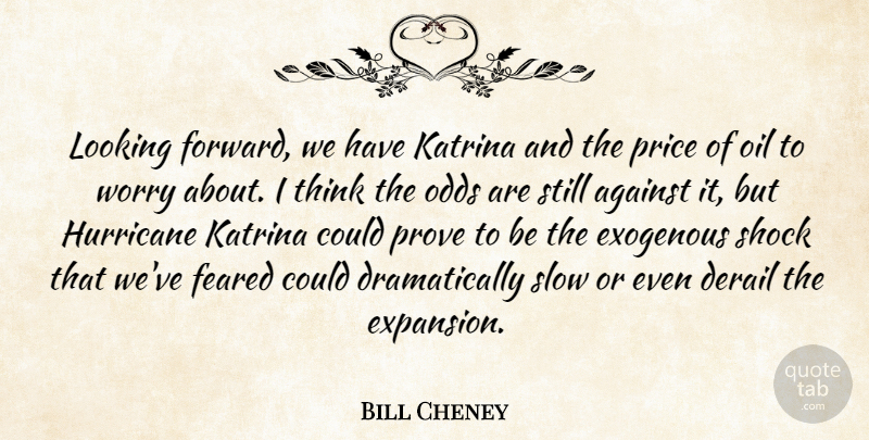 Bill Cheney Quote About Against, Feared, Hurricane, Katrina, Looking: Looking Forward We Have Katrina...