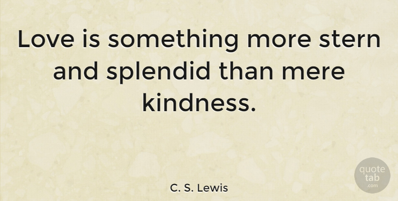 Cs Lewis Quotes On Love | C S Lewis Love Is Something More Stern And Splendid Than Mere