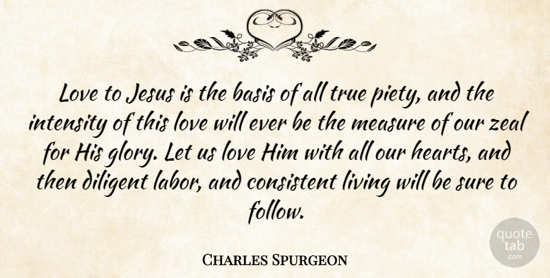 Charles Spurgeon Quote About Jesus, Heart, Glory: Love To Jesus Is The...