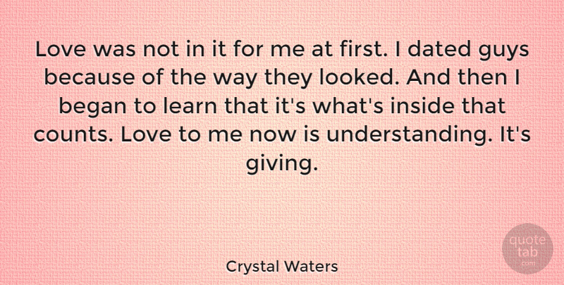 Crystal Waters Love Was Not In It For Me At First I Dated Guys