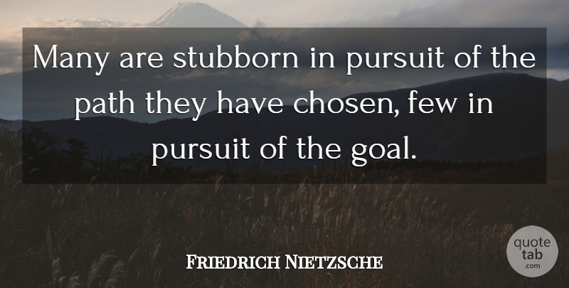 Friedrich Nietzsche Quote About Inspirational, Funny, Leadership: Many Are Stubborn In Pursuit...