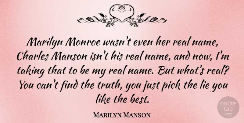 Marilyn Manson: Marilyn Monroe wasn't even her real name