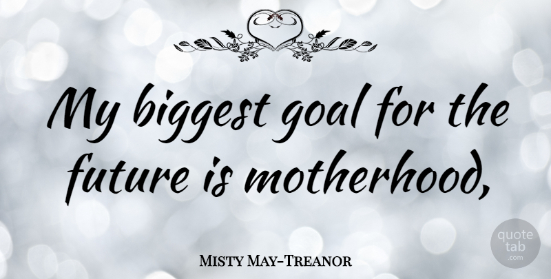 Misty May-Treanor Quote About Motherhood, Goal: My Biggest Goal For The...