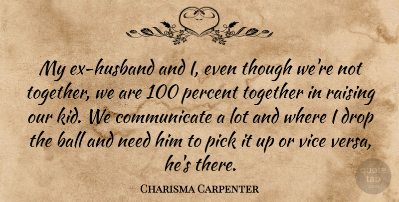charisma carpenter my ex husband and i even though we re not
