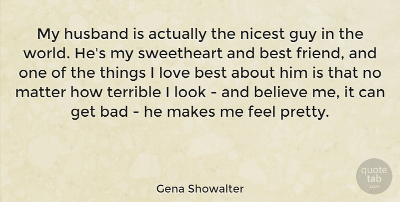 Gena Showalter My Husband Is Actually The Nicest Guy In The World