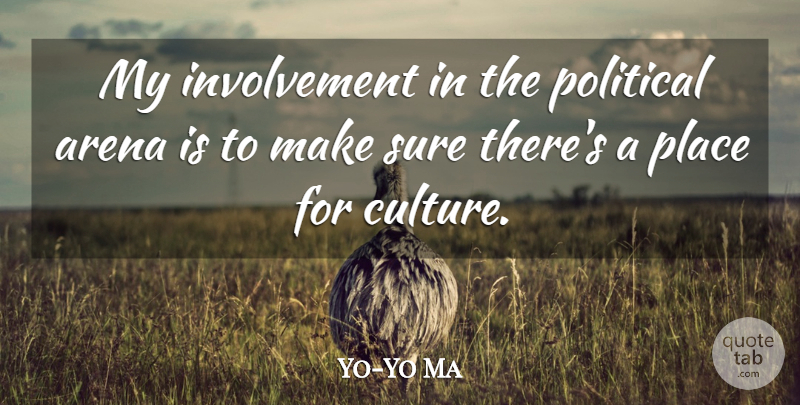 Yo-Yo Ma Quote About Political, Arena, Culture: My Involvement In The Political...