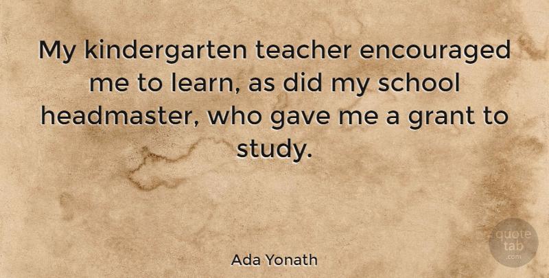 Ada Yonath: My kindergarten teacher encouraged me to learn ...