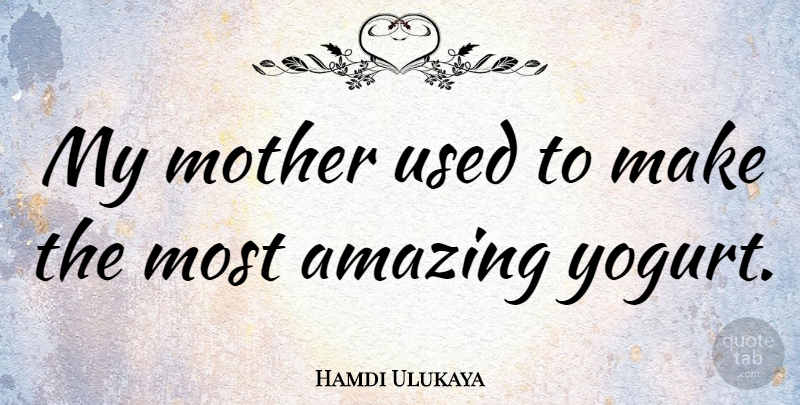 Hamdi Ulukaya Quote About Amazing: My Mother Used To Make...