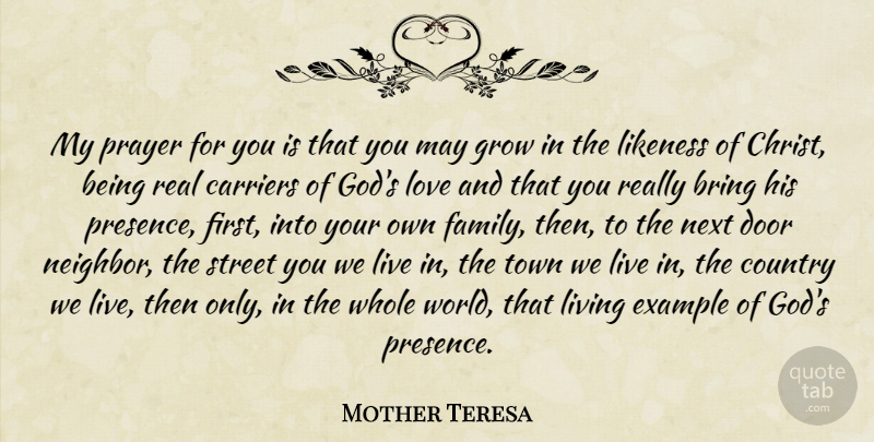 Mother Teresa My Prayer For You Is That You May Grow In The