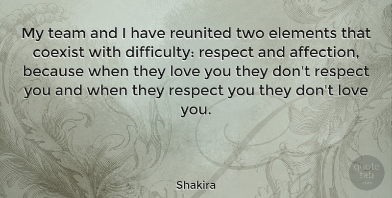 Shakira Quote About Respect, Team, Love You: My Team And I Have...