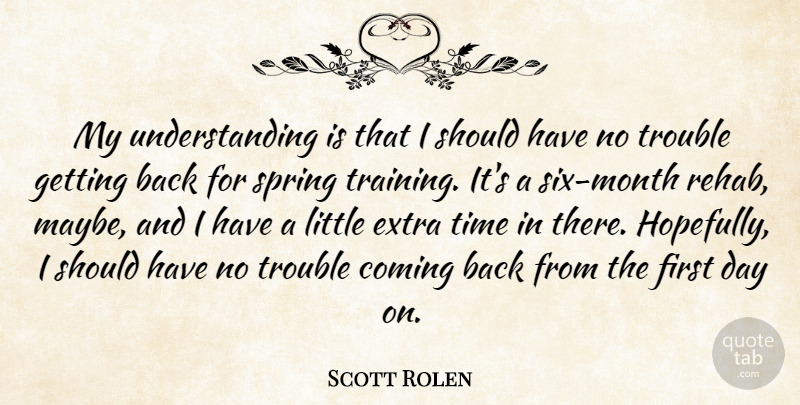 Scott Rolen My Understanding Is That I Should Have No Trouble