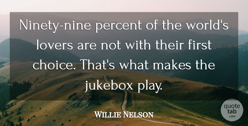 Willie Nelson Quote About Reality, Ninety Nine, Play: Ninety Nine Percent Of The...