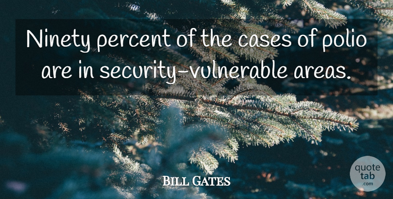 Bill Gates Quote About Disease, Vulnerable, Ninety: Ninety Percent Of The Cases...