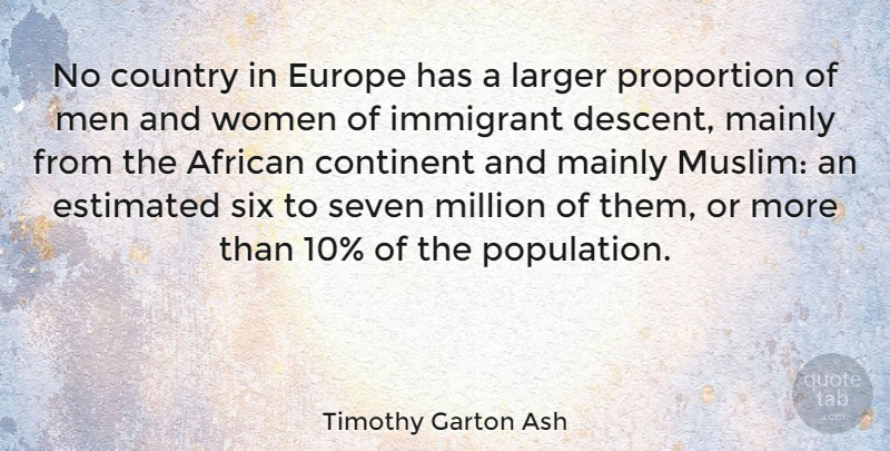Timothy Garton Ash Quote About African, British Author, Continent, Country, Estimated: No Country In Europe Has...