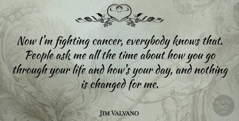 Jim Valvano Quote About Cancer, Fighting, People: Now Im Fighting Cancer Everybody...