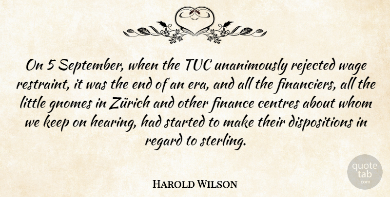 Harold Wilson On 5 September When The Tuc Unanimously Rejected