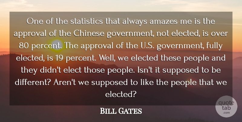 Bill Gates Quote About Government, People, Chinese: One Of The Statistics That...