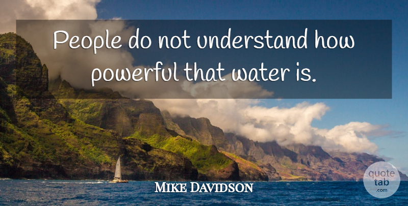 Mike Davidson Quote About People, Powerful, Understand, Water: People Do Not Understand How...