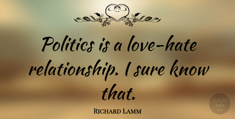 Richard Lamm Politics Is A Love Hate Relationship I Sure Know That