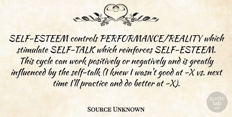 Source Unknown Self Esteem Controls Performancereality Which