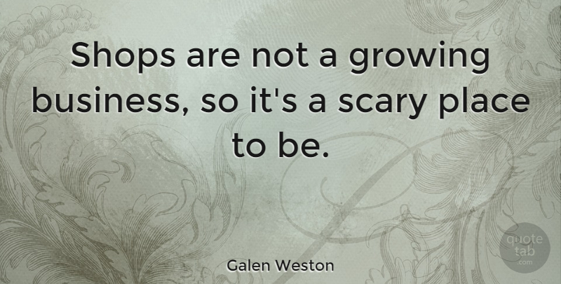 Galen Weston Quote About Business, Shops: Shops Are Not A Growing...