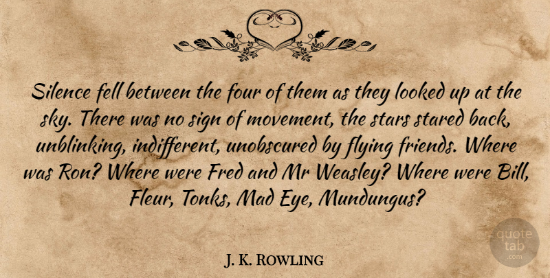 J. K. Rowling Quote About Stars, Eye, Sky: Silence Fell Between The Four...