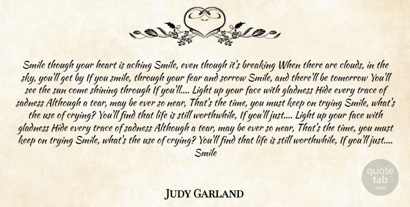 Judy Garland Smile Though Your Heart Is Aching Smile Even Though