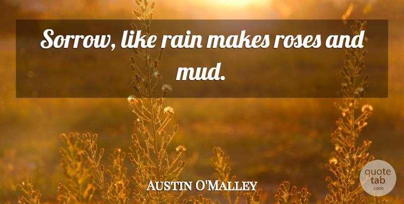 Austin Omalley Sorrow Like Rain Makes Roses And Mud Quotetab