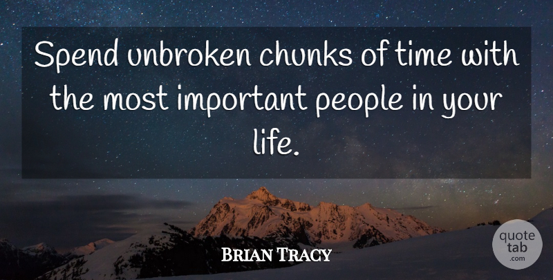 Brian Tracy Spend Unbroken Chunks Of Time With The Most Important