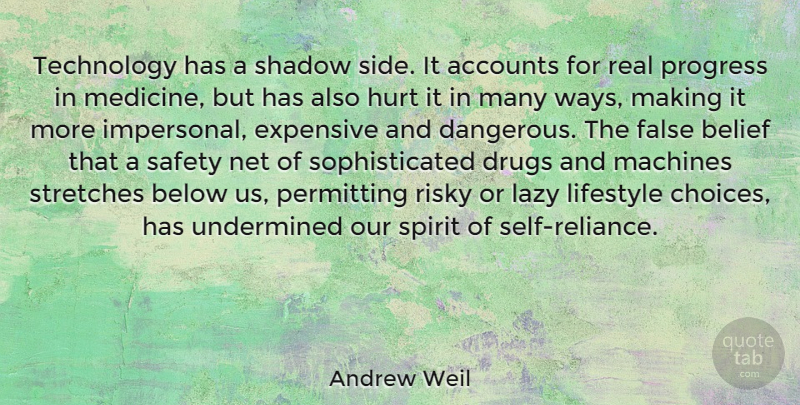 Andrew Weil: Technology has a shadow side  It accounts for