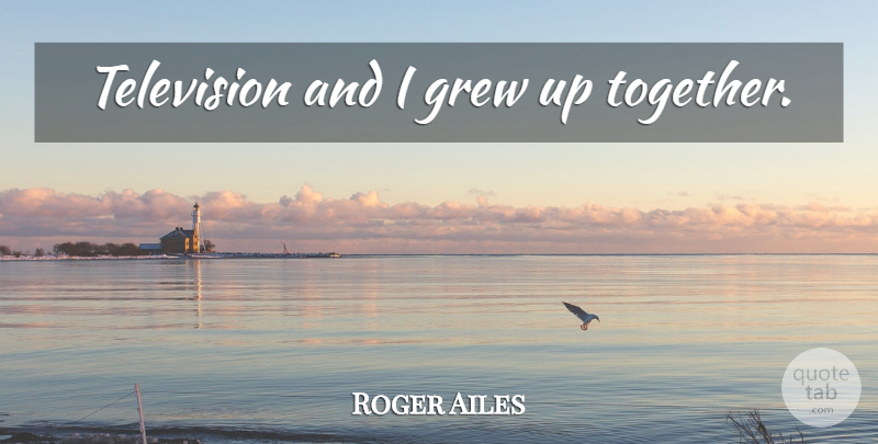 Roger Ailes Quote About Together, Television, Grew: Television And I Grew Up...