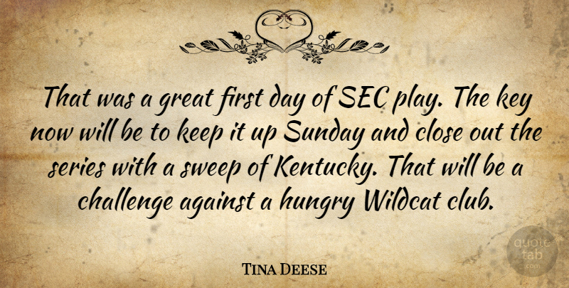 Tina Deese: That was a great first day of SEC play. The key ...